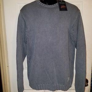 IZOD Jeans Dusty Blue Pullover Sweater Medium Knit